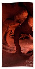 Fire Cave Inferno Beach Towel