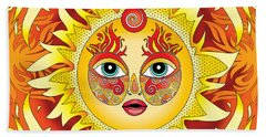 Fire Element Beach Towel by Serena King