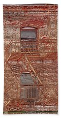 Beach Towel featuring the photograph Fire Escape by Marie Leslie