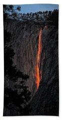 Fire Fall Beach Towel