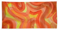 Fire Beach Towel by Holly York