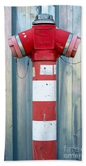 Fire Hydrant Steel Wall Beach Towel