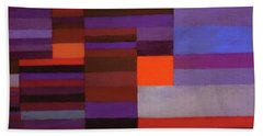 Fire In The Evening Beach Towel
