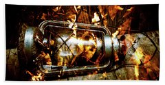 Fire In The Hen House Beach Towel