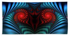 Beach Towel featuring the digital art Fire Inside by Jutta Maria Pusl
