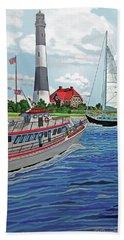 Fire Island Lighthouse Beach Sheet