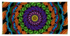 Fire Mandala Beach Towel