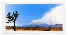 Fire On The Mountain 2 Beach Sheet by Angela J Wright