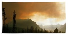 Fire Over St Mary Beach Towel