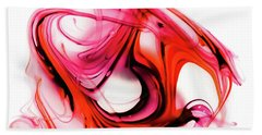 Fire Swirl Beach Towel