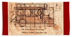 Beach Sheet featuring the photograph Fire Truck Bunk Bed by Larry Campbell