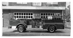 Fire Truck Beach Sheet