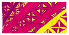 Beach Towel featuring the drawing Fire Velvet Lace by Kim Sy Ok