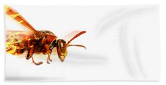 Fire Wasp Racing At Scorching Speed Beach Towel