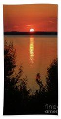 Fire Water Beach Towel by Ella Kaye Dickey