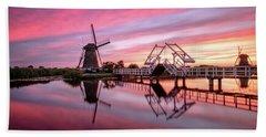 Fired Sky Kinderdijk Beach Towel