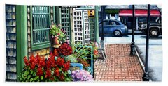 Firefly Lane Bar Harbor Maine Beach Towel