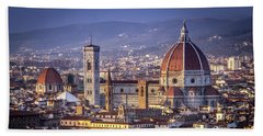 Beach Towel featuring the photograph Firenze E Il Duomo by Sonny Marcyan