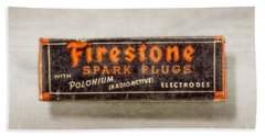 Firestone Spark Plugs Box Beach Towel