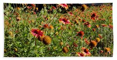 Firewheel Wildflower Beach Towel
