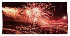 Firework Fantasy  Beach Towel