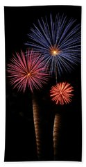 Firework Trees Beach Towel