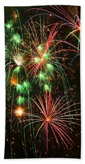 Fireworks 4th Of July Beach Towel