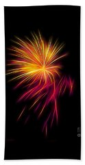 Fireworks Abstract Nbr 1 Beach Towel