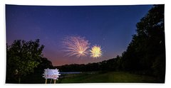 Fireworks And The Stars Beach Towel