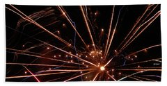 Beach Sheet featuring the photograph Fireworks Blast #0703 by Barbara Tristan