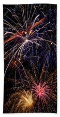 Fireworks Celebration  Beach Towel