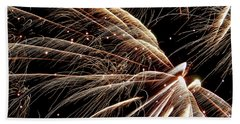Beach Sheet featuring the photograph Fireworks Evolution #0710 by Barbara Tristan