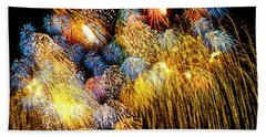 Fireworks Exploding  Beach Towel
