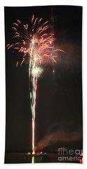 Fireworks On The Lake Beach Towel