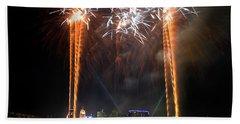 Fireworks Over Cincinnati Beach Towel