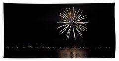 Fireworks Over Shaver Lake Beach Towel