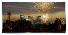 Fireworks Over Tampa 2017 II Beach Towel