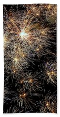 Beach Sheet featuring the photograph Fireworks by Suzanne Stout
