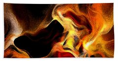 Firey Beach Towel