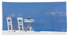 Firostefani, Santorini, Greece Beach Towel
