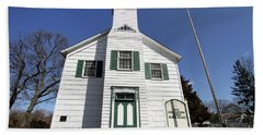 First Congragational Church In New Village Beach Towel