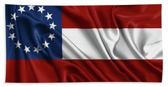 First Flag Of The Confederate States Of America - Stars And Bars 1861-1863 Beach Towel