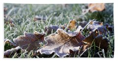 Beach Towel featuring the photograph First Frost by Helga Novelli