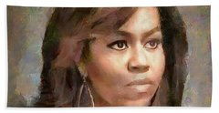 First Lady Michelle Obama Beach Towel