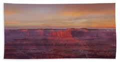 Beach Towel featuring the photograph First Light At Horseshoe Bend by Marie Leslie