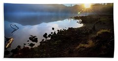 Beach Towel featuring the photograph Daybreak by Cat Connor