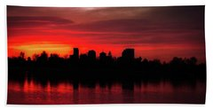 First Light In Denver Beach Towel