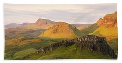 First Light Trotternish Panorama Beach Towel