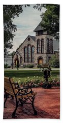 Beach Towel featuring the photograph First Presbyterian Church by Kendall McKernon