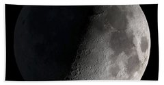 First Quarter Moon Beach Towel